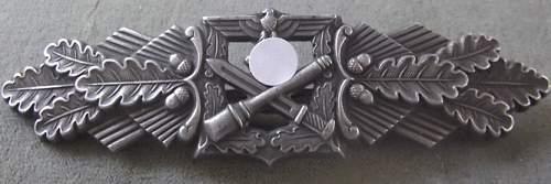 Nahkampfspange in Silber by F & B L