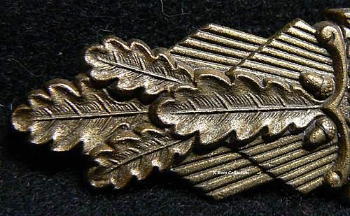 Nahkampfspange in Bronze, FLL, Friederich Linden, Ludenschied