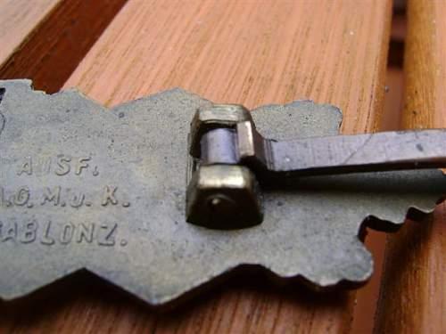 AGMuK Nahkampfspange in Bronze