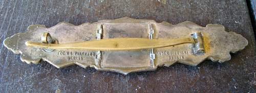 "Close Combat Clasp (CCC) or ""Nahkampfspange""  silver grade"