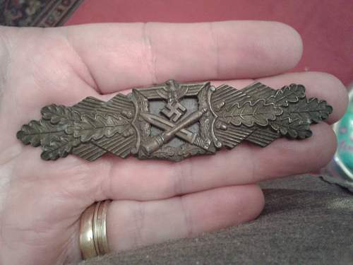 Nahkampfspange in bronze by AGMuK