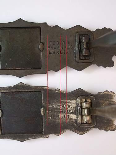 Nahkampfspange JFS First Pattern in Silver