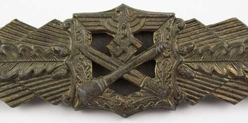 2x Hymmen Nahkampfspange in Bronze