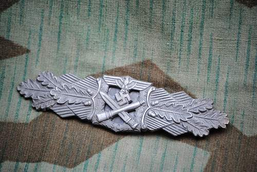 Nahkampfspange in Silber