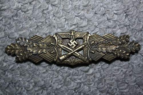 Bronze Nahkampfspange by AGMuK