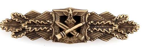 Click image for larger version.  Name:bronze close combat clasp front .jpg Views:15 Size:39.6 KB ID:867247