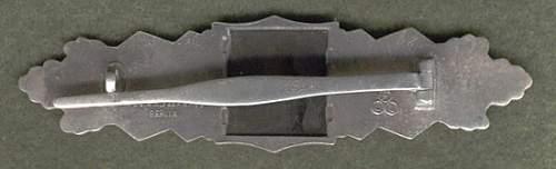 Silber Nahkampfspange/Close Combat clasp AGMuK