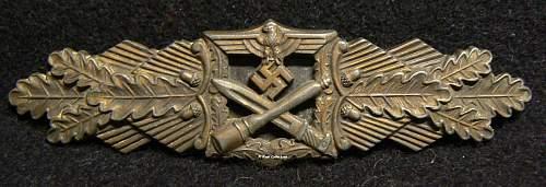 Nahkampfspange in Bronze, JFS, Josef Feix & Sohne