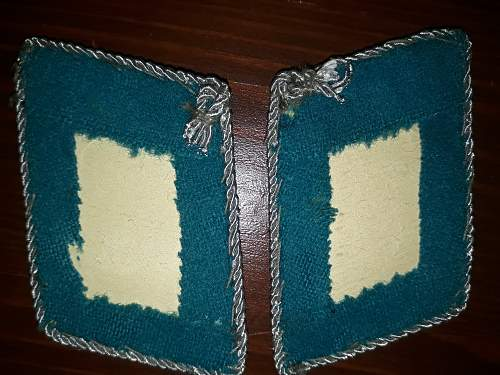 Embroided Luftstreitkräfte junior officer collar tabs