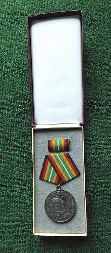 National Volksarmee Fuer Treue Dienst (Loyal Service Medal) 900 silver stamped