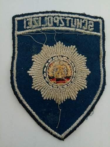 DDR Volkspolizei patches