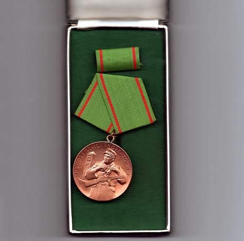 Medaille fuer Vorbindlichen Grenzdienst - Medal for Exemplary Border Service