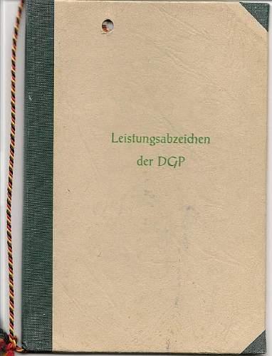 Leistungsabzeichen der Deutsche Grenzpolizei