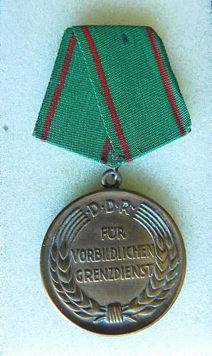 Medaille fur Vorbildlichen Grenzdienst 1st pattern. How often does this happen?