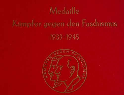 DDR 'Faschismus' medal