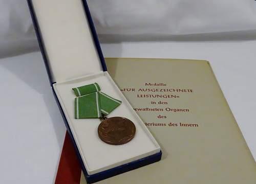 DDR Volkspolizei medal