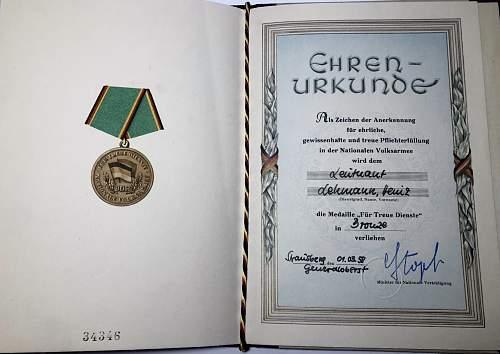 NVA medal grouping