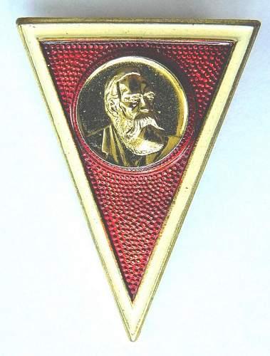 Absolventenabzeichender Militaerakademie Friedrich Engels