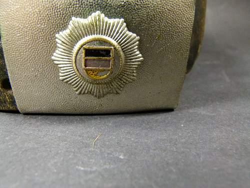 Kasernierte Volkspolizei (KVP) Koppelschloss und Lederkoppel /Belt and buckle