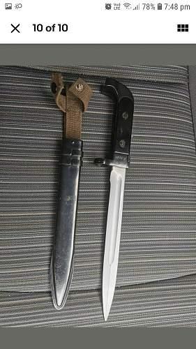 Early NVA bayonet