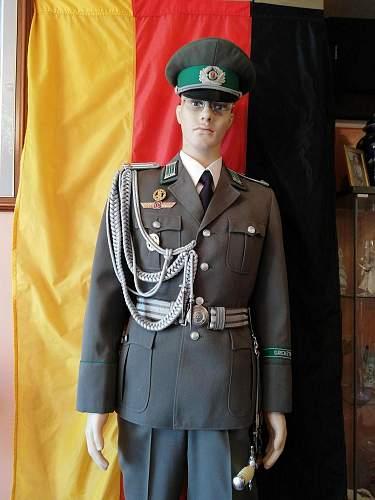 Grenztruppen uniform set up