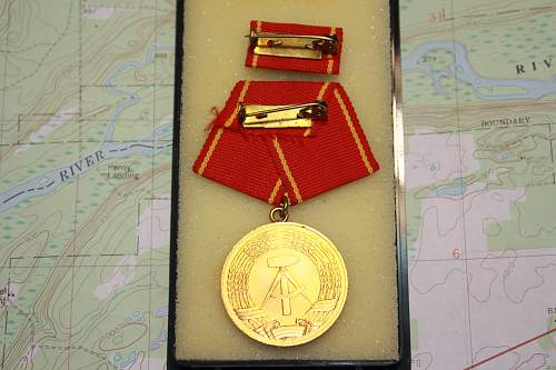 25 year long service medal and flag