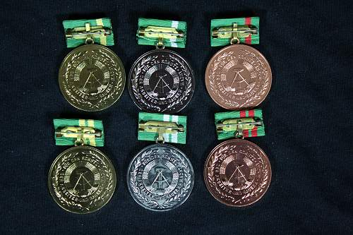 Long service medals for Border Volunteers