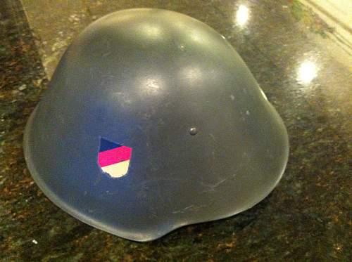 Early M56 Helmet. Good decal?