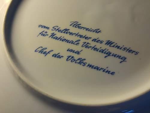 East German gift/commemorative plates