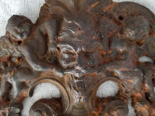 Cast iron plate found on the Hindenburg Line