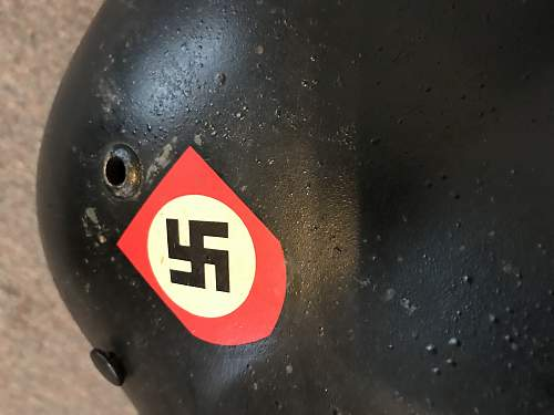 New user looking for info on German SS double decal helmet fake/real?