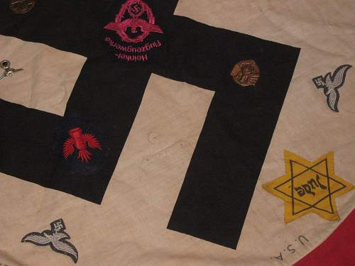 Party flag with badges