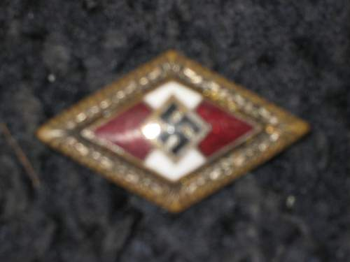 Rare hitler youth badge?