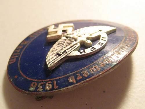NSFK Enamel badge
