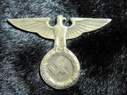 Is this political cap eagle real or fake?