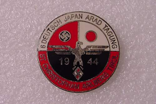 1944 German/ Japanese Convention Pin.