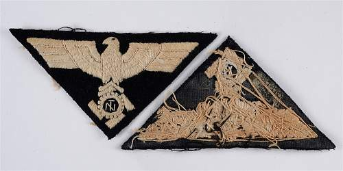 Click image for larger version.  Name:TECHNISCHE NOTHILFE (TENO) - A VERY RARE EMNCO TYPE 3 PATTERN HAND EMBROIDERED SLEEVE INSIGNIA (.jpg Views:13 Size:52.3 KB ID:1100056