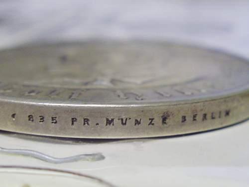 1933 Hitler Commemorative Medalion