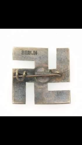 black enameled swastika (berlin)