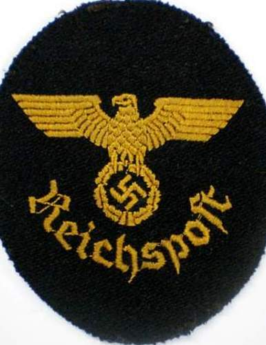 Reichspost Oval Patch