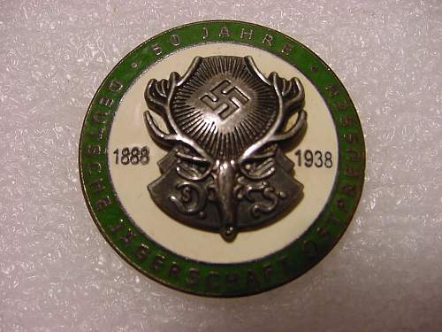 50 Year Hunting Badge....third reich