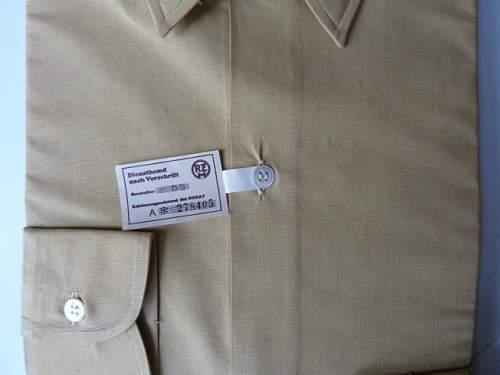 NSDAP brown shirt unissued?