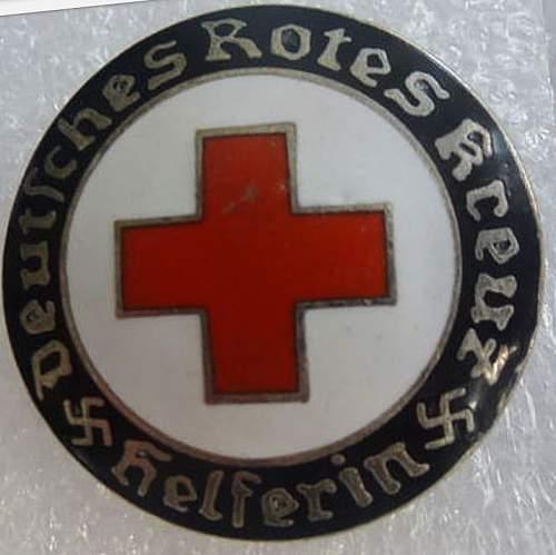 DRK Helferin brooche