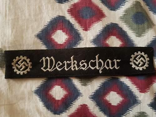 Werkschar cuff title