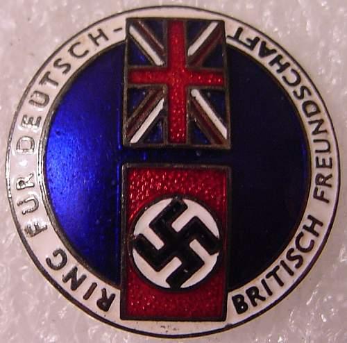 Badge Fur Deutsch - Britisch Freundschaft