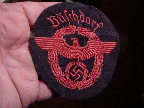 Large patch policeman?