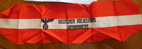 Deutscher Volksstrum  Wehrmacht arm band fake or real?