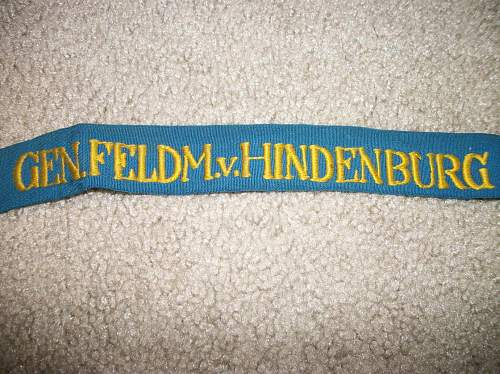 Can you help me identify this German cuff title??