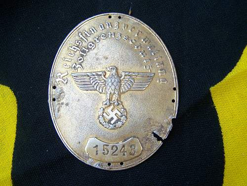 Customs Official Arm Band Badge