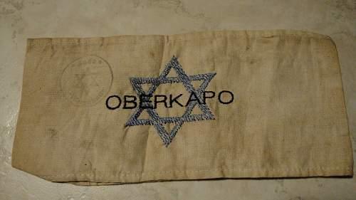 Oberkapo Jewish camp inmates Armband.